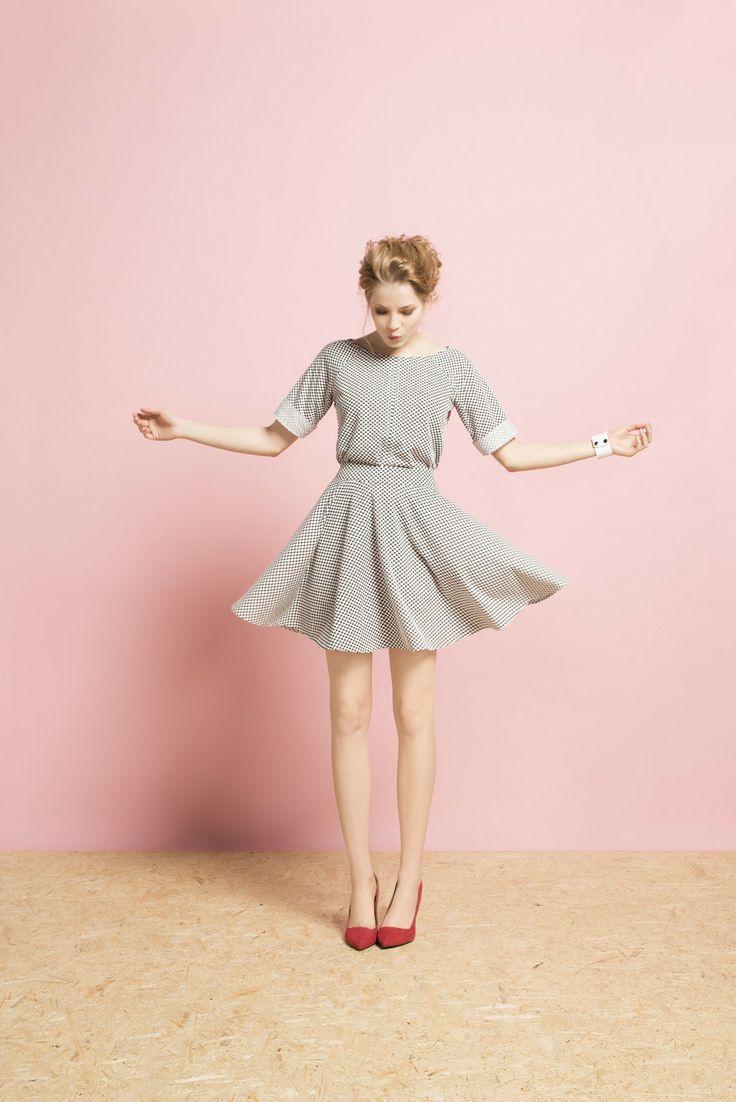 Kolekcja wiosna/lato 2014 #moda #kolekcja #lato #wiosna #wiosna-lato 2014 #SS2014 #danhen #lookbook #groszki #kropeczki #zabawa #wakacje #spódniczka