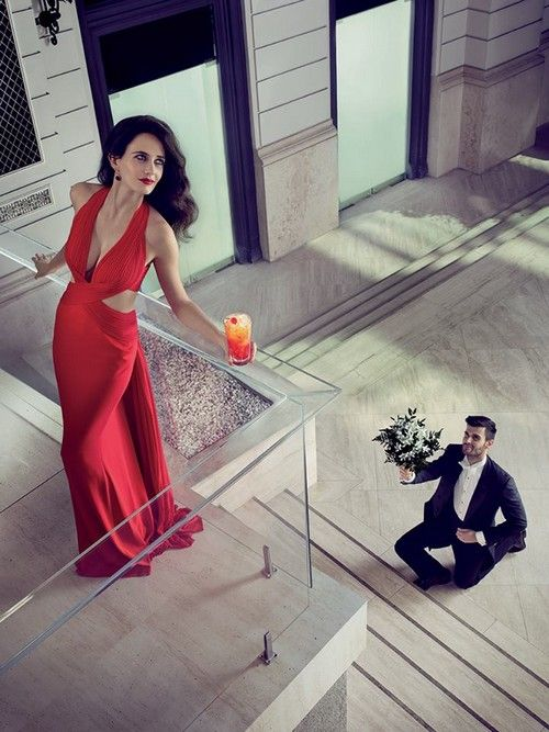 Former #Bond girl #EvaGreen is starring in #Campari 2015 Calendar. Some of the photos were taken at the Corinthia Hotel Budapest.