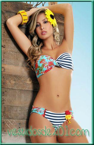 Vestidos de ba o verano 2013 modernos juveniles bikini for Trajes de bano juveniles