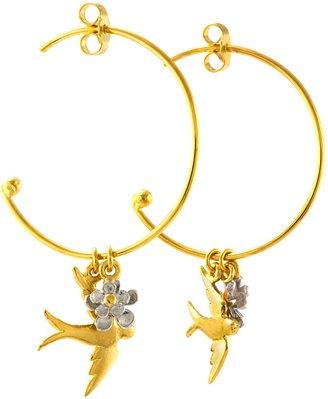 Flying birds earring / ShopStyle: Alex Monroegoldie H.P.FRANCE Pierce