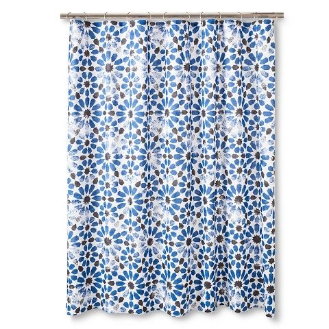 Sabrina Soto Havana Shower Curtain Blue Black Black Blue Colors Color Of The Year And The