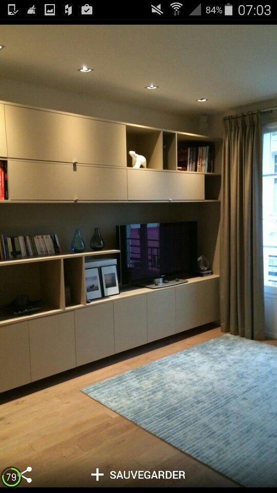 9 best meuble tele images on Pinterest Living room ideas, Tv walls - comment peindre un meuble laque