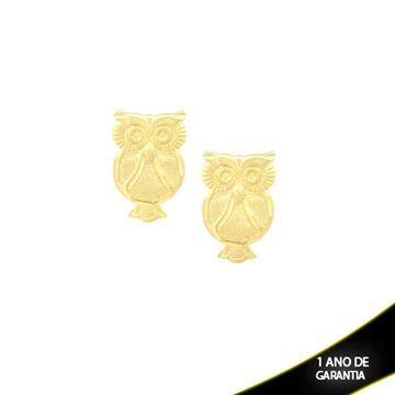 Mostrar detalhes para Brinco Coruja Fosca e Diamantada - 0209920