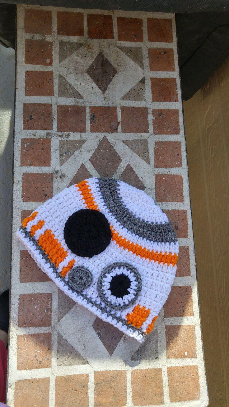 Handmade BB8 Crochet Beanie/Star Wars Crochet Beanie by HippityHoppDesigns on Etsy