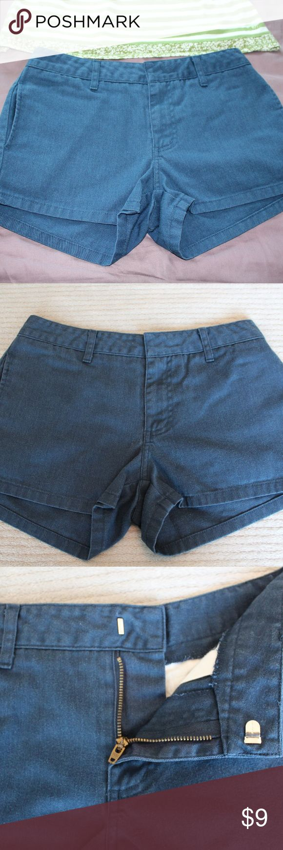 Navy Blue Dickie's Shorts These shorts are perfect for the hot summer days!  They are a navy blue color with a latch instead of a button on front.  Great condition with no stains or pulls! Dickies Shorts
