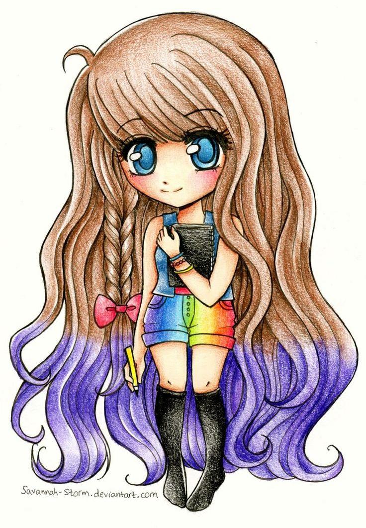 Chibi rainbow girl Chibi Love! Pinterest