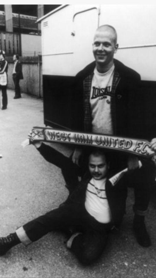 Skinheads claret & blue WEST HAM HOOLIGANS #cockney #london #football West…
