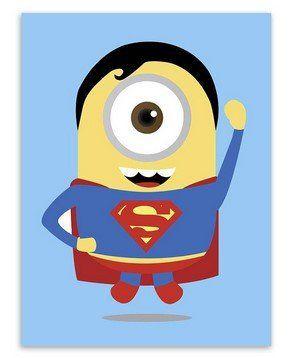 Minions Superheros Wall Poster - Avengers Batman Funny Pop Anime Movie – Superhero Universe