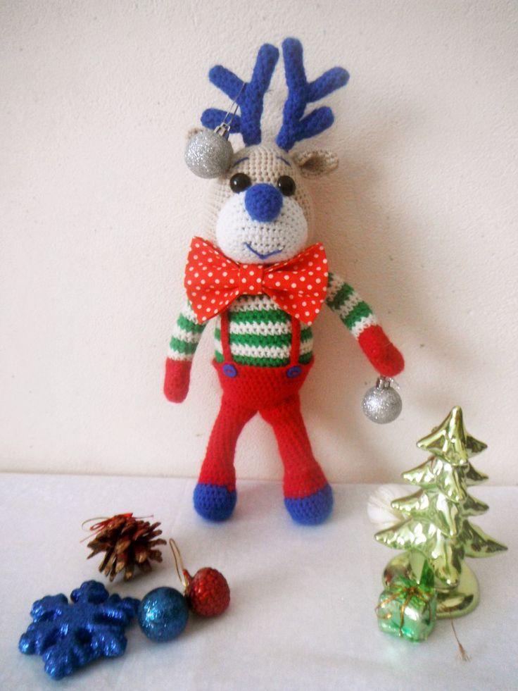 олененок рождество новый год вязание