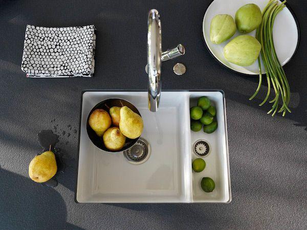 Voor iedereen die van een kleurrijke keuken houdt, komt Franke Kitchen Systems met keramische spoelbakken.