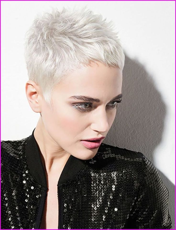 42 Fashionable Short Haircut And Platinum Hair Color Ideas For Women Style Color Fashionable Haircu Super Short Hair Platinum Hair Color Short Hair Styles