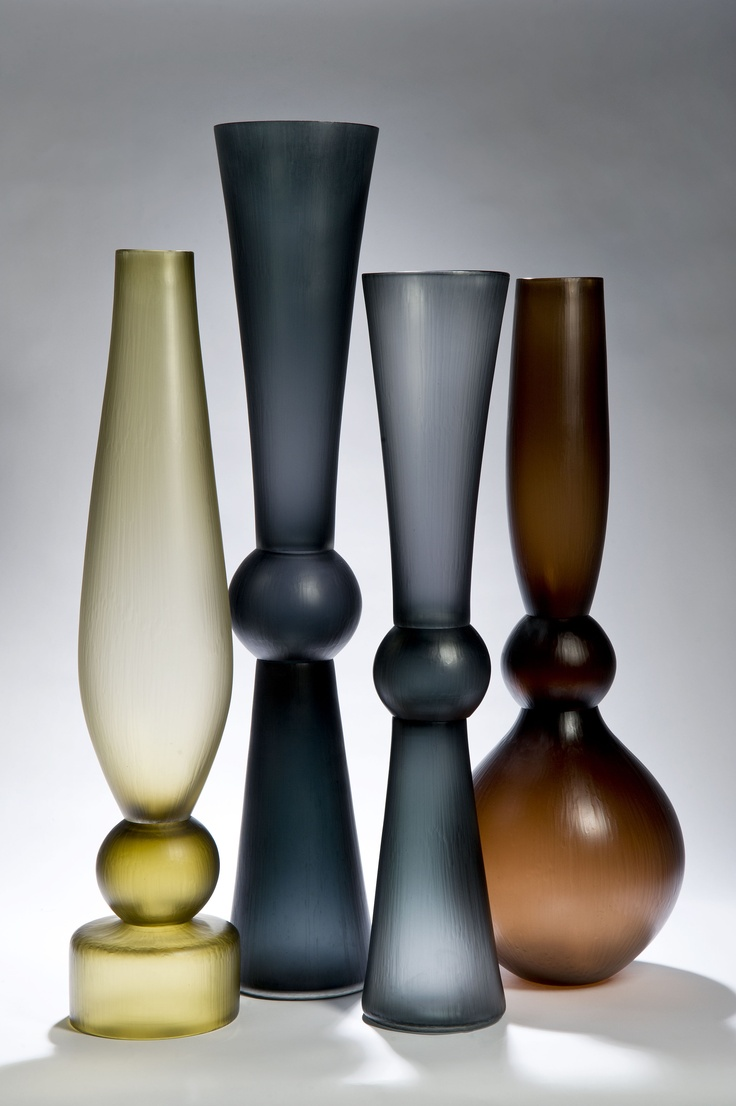 Glass Vases by Simon Moore