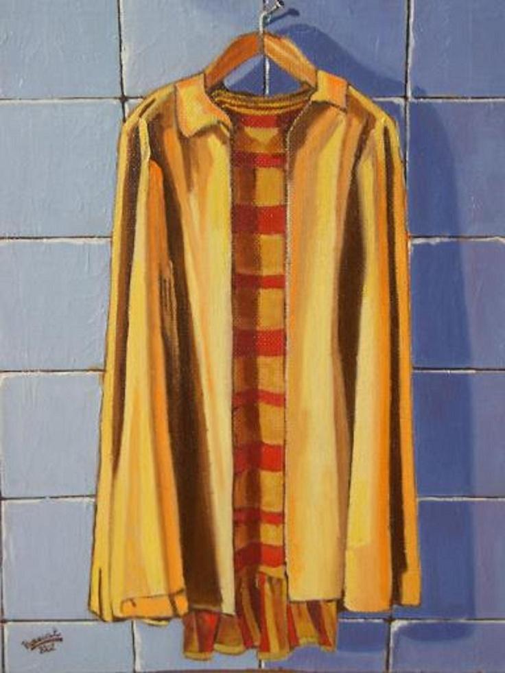 Titulo: Abrigo, óleo sobre tabla, 55 x 38.