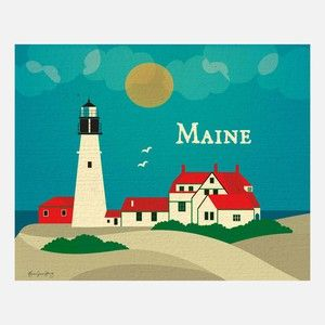 Maine Print, $22, now featured on Fab.
