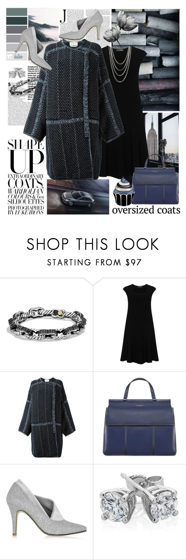 """""""Midnight Blues"""" by kateo ❤ liked on Polyvore featuring David Yurman, Doris Streich, Chloé, Tory Burch, Zoe Lee, Reeds Jewelers, FOSSIL, oversizedcoats and 6412"""