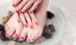 One or Two Shellac or Shellac Spa Manicures with Pedicures from Herlinda at Touch of Beauty (Up to 58% Off)