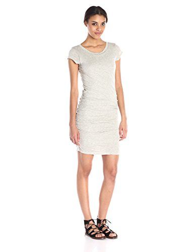 VELVET BY GRAHAM  SPENCER Womens Gauzy Whisper Capsleeve Dress Heather Grey Large ** To view further for this item, visit the image link.