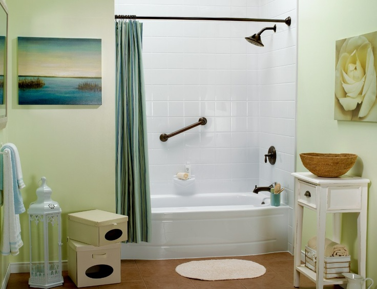 Oil Rubbed Bronze Fixtures With Bath Fitter White