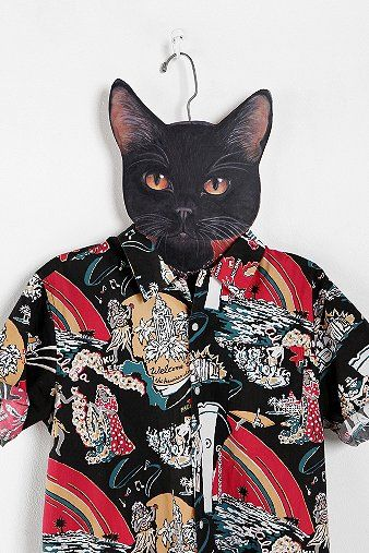 Urban Outfitters  Animal Clothes Hanger - Black Cat: Cats, Urban Outfitters, Animals, Gift, Cat Hangers, Animal Clothing, Animal Clothes, Clothes Hanger, Clothing Hangers