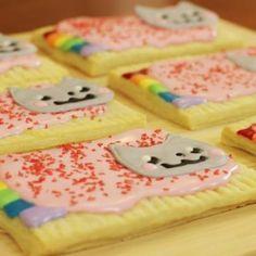 Nyan cat cookies