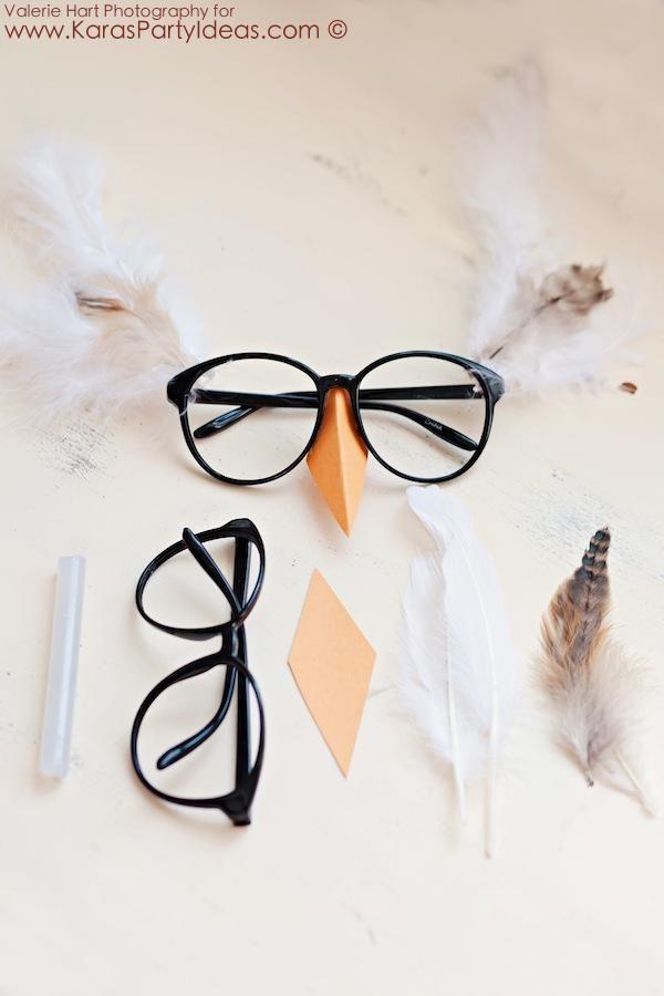 KarasPartyIdeas.com  Owl eyeglasses!  Get your Harry Potter glasses from Kara's Party Ideas.com