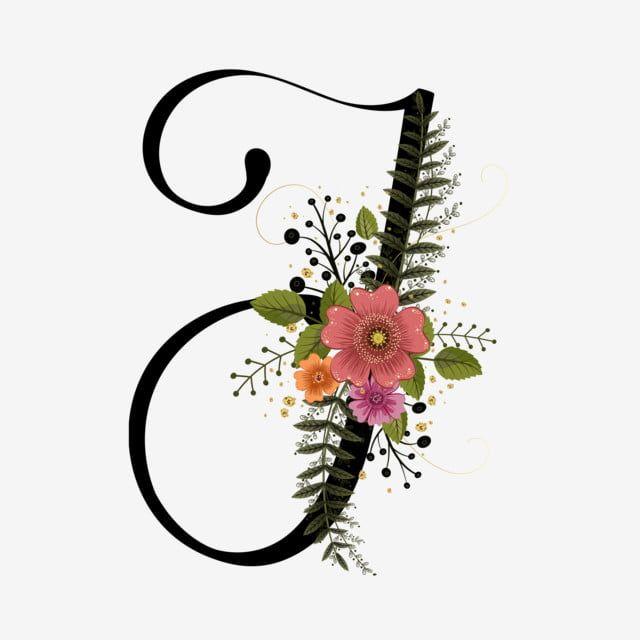 Alfabet Litery I Z Rocznika Kwiaty Lettering Alphabet Flower Alphabet Flower Letters