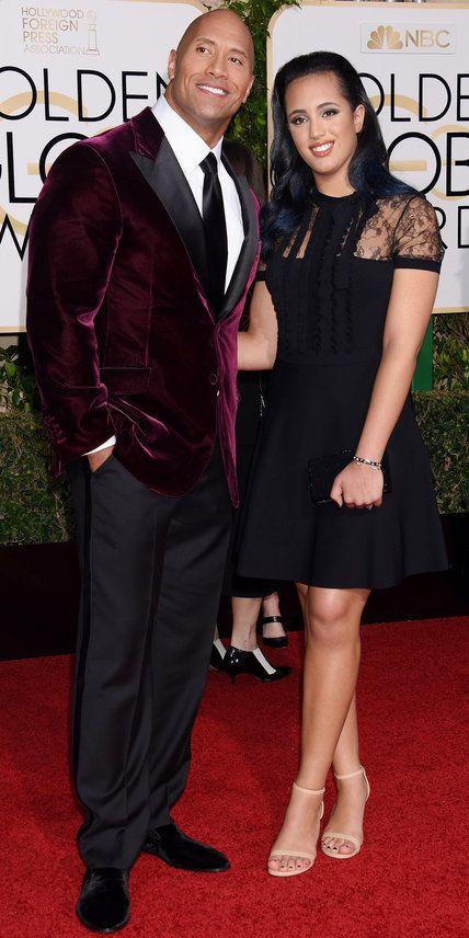 2016 Golden Globes Red Carpet Arrivals - Dwayne Johnson - from InStyle.com