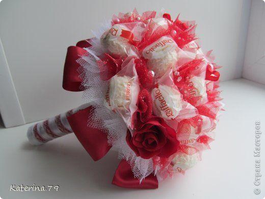 Букет из рафаэлло на свадьбу своими руками тушино цветы купить