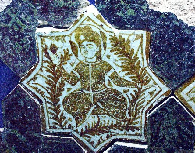 Seljuk tile. The Karatay Museum of Ceramic Tiles Konya, Turkey