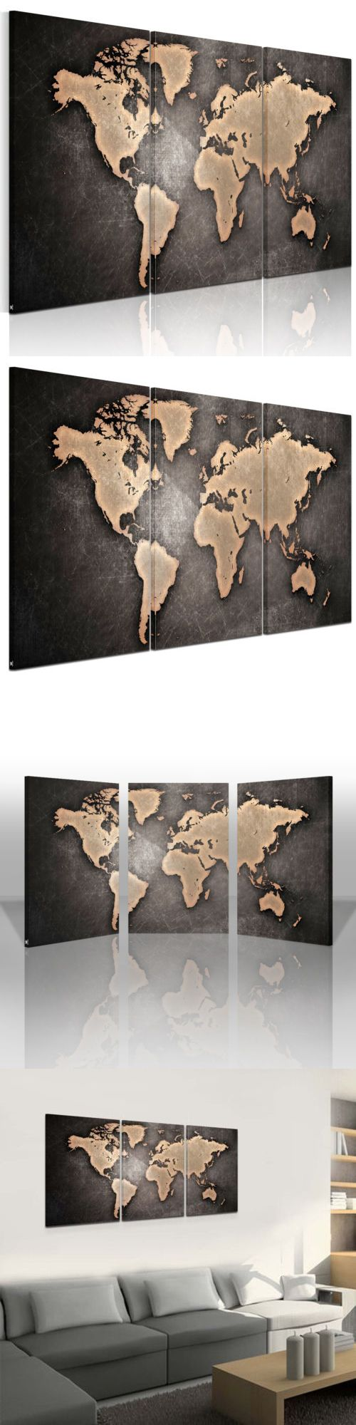 Posters and Prints 41511: World Map Framed Picture Hd Canvas Print Wall Art Painting Ready To Hang From Us -> BUY IT NOW ONLY: $43.99 on eBay!