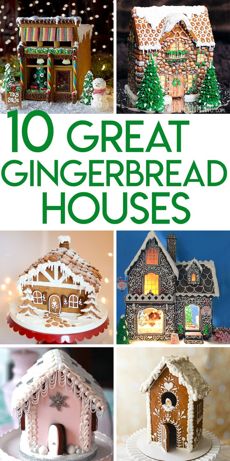 Gorgeous gingerbread house designs!!!!! #gingerbreadhouse #Christmas