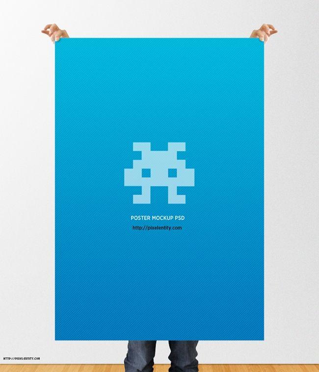 Kostenloses Poster Mockup als PSD-Datei