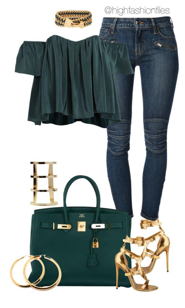 Out by highfashionfiles on Polyvore featuring polyvore fashion style Koral Tom Ford Hermès Henri Bendel Stone_Cold_Fox clothing