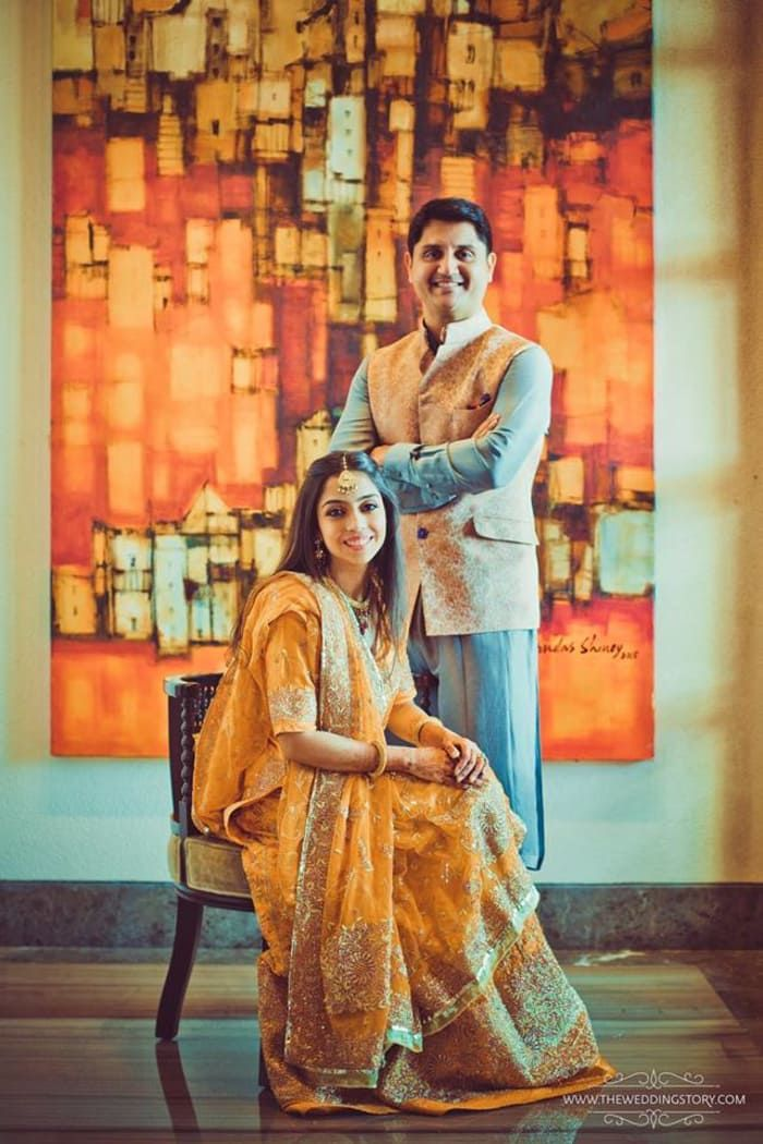 Photographer - Made For Each Other! Photos, Hindu Culture, Beige Color, Bridal Makeup, Designer Groom Wear, Mangtika pictures, images, vendor credits - Divya Vithika Wedding Planners, Sabyasachi Couture Pvt Ltd, The Wedding Story, WeddingPlz