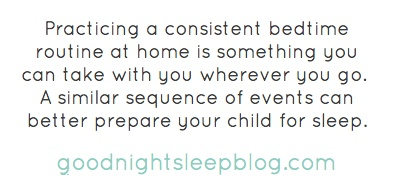 Practicing a consistent bedtime routine at home is something you...