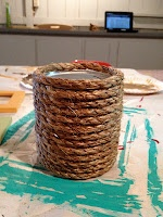 DIY - rope decorates a can for a great plant holder/decoration: Merchand Ideas, Bureau
