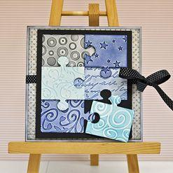 Embosované puzzle přání  #DIY #bigshot #emboss