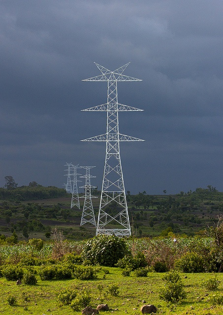 Power Line Going From Gibe Dam To Addis Ababa, Ethiopia by Eric Lafforgue, via Flickr