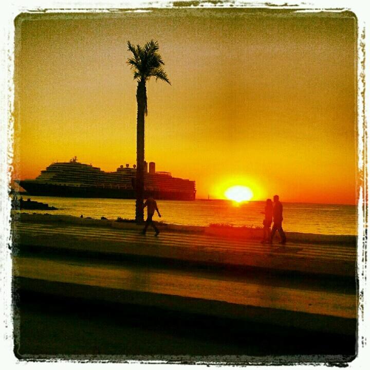 Sunset view from Kuşadası seasideSunsets Sunris