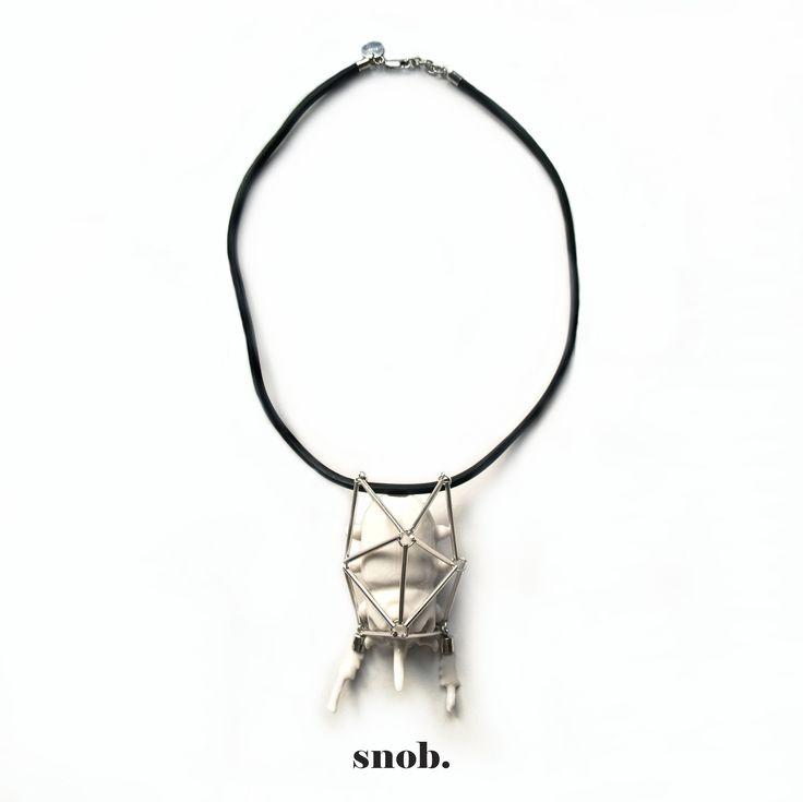 New #SNOB #SnobDot Preparing for #Autor13 #contemporaryjewelry #AUTORfair  9-10 mai Sala Dalles - Bucuresti #scarab #necklace #silver #ceramic