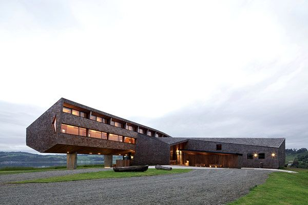 Stunning Modern Hotel with Glass Façade Design: Amazing Exterior  View Unique Architecture Modern Hotel In Chile
