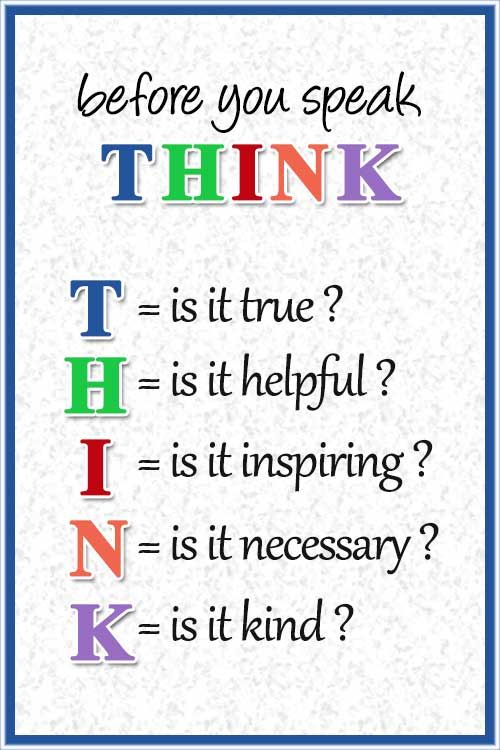 Mindfulness Quote Before You Speak Think T Is It True H Is