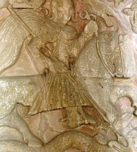 Lándzsa (Szent György és a sárkány, Brinshop) - Hagyomány és múltidéző