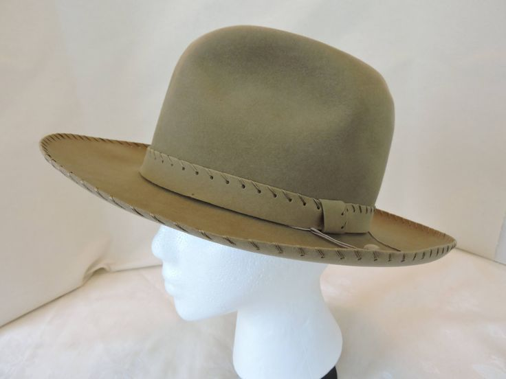 Vintage Imperial Stetson Fedora Hat Tan/Beige Suede Finish by RelovedVintageHome on Etsy