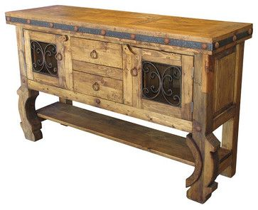 Rustic Spanish Colonial Hutch mediterranean-china-cabinets-and-hutches