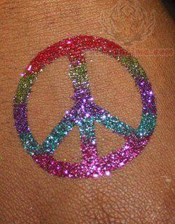 Peace Classic Glitter Tattoo
