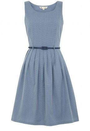Textured Belted Dress