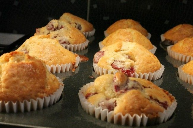 Meggyes muffin
