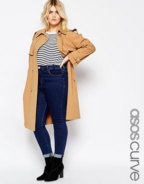 ASOS CURVE - Trench lunghezza media