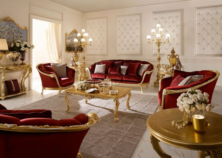Charming Italian Classic Luxury Wooden Living Room Furniture. Part 32